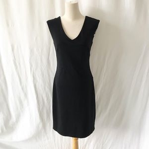 DKNY black fitted dress size 0
